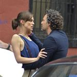 Mark Ruffalo and Keira Knightley on the set of Can a Song Save Your Life?  121294