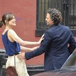 Mark Ruffalo and Keira Knightley on the set of Can a Song Save Your Life?  121301