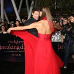 Kellan Lutz and his real girlfriend at the Breaking Dawn Part 1 premiere  98399