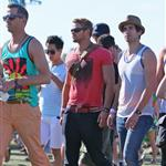 Kellan Lutz with friends at Coachella 2012 111568
