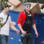 Kellan Lutz meets up with Peter Facinelli 47098