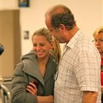 Kelsey Grammer and Kayte White make out at JFK  79396