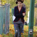 Anna Kendrick hair in rollers on Vancouver reshoots for Live With It 72206