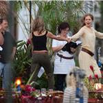 Nicole Kidman in Hawaii with Jennifer Aniston and Adam Sandler shooting Just Go With It 59446