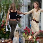 Nicole Kidman in Hawaii with Jennifer Aniston and Adam Sandler shooting Just Go With It 59447