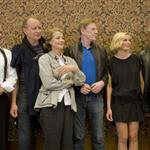 Kirsten Dunst Charlotte Gainsbourg and cast of Melancholia at press conference in Sweden to announce production July 2010  66034