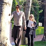 Kirsten Dunst and Garrett Hedlund post flyers looking for her lost cat in Toluca Lake, CA 104710