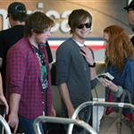 Kings of Leon at LAX headed for UK  45566
