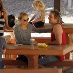 Kristen Bell with Dax Shepard and friends at Griffith Park 108766