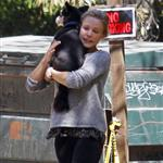 Kristen Bell with Dax Shepard and friends at Griffith Park 108767