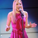 Kristen Bell performs at the 20th Anniversary Alzheimer's Association 'A Night at Sardi's' at The Beverly Hilton Hotel 109833