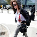 Kristen Stewart arrives in London 91071