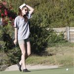 Kristen Stewart plays golf in Malibu  121385