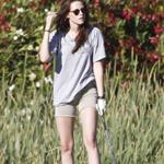 Kristen Stewart plays golf in Malibu  121388