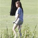 Kristen Stewart plays golf in Malibu  121389