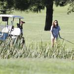Kristen Stewart plays golf in Malibu  121396