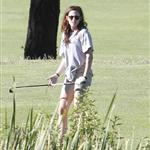 Kristen Stewart plays golf in Malibu  121397