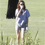 Kristen Stewart plays golf in Malibu  121398