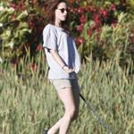 Kristen Stewart plays golf in Malibu  121403