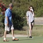 Kristen Stewart plays golf in Malibu  121406