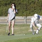 Kristen Stewart plays golf in Malibu  121407