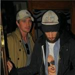 Tom Sturridge Garrett Hedlund leave Groucho Club 87218