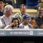 Mila Kunis and Ashton Kutcher double date with her parents at the Dodgers  124206