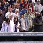 Mila Kunis and Ashton Kutcher double date with her parents at the Dodgers  124207