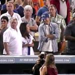 Mila Kunis and Ashton Kutcher double date with her parents at the Dodgers  124210
