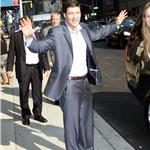Kyle Chandler at Letterman to promote Super 8  87118