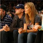 Leonardo DiCaprio with Bar Rafaeli at the Laker Game January 2010  53679