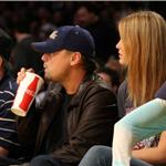 Leonardo DiCaprio with Bar Rafaeli at the Laker Game January 2010  53681