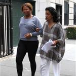 Phylicia Rashad and Queen Latifah in NY on the set of Just Wright  43793