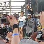 Lauryn Hill performs at Rock the Bells 2010 as Jay-Z, Beyonce, Mary J Blige, Alicia Keys, Chris Rock look on 67827