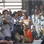 Lauryn Hill performs at Rock the Bells 2010 as Jay-Z, Beyonce, Mary J Blige, Alicia Keys, Chris Rock look on 67829