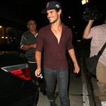 Taylor Lautner at Craig's in West Hollywood 124660