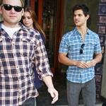 Taylor Lautner takes his new girlfriend Lily Collins out on a date 72800