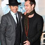 Robert Downey Jr and Jude Law attend the world premiere of Sherlock Holmes held at The Empire Leicester Square on December 14, 2009 in London, England 108033