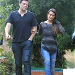 Cory Monteith and Lea Michele go for lunch in Hollywood 120168