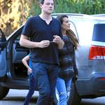 Cory Monteith and Lea Michele go for lunch in Hollywood 120169