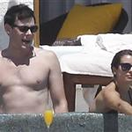 Lea Michele and Cory Monteith on holiday in Cabo  110777