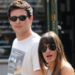 Lea Michele and Cory Monteith hold hands in Soho May 2012  114788