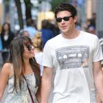 Lea Michele and Cory Monteith hold hands in Soho May 2012  114791