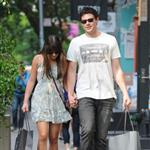 Lea Michele and Cory Monteith hold hands in Soho May 2012  114793