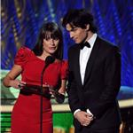 Ian Somerhalder presents with Lea Michele at Emmy Awards 2011  94515