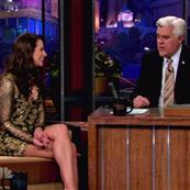 Lea Michele appears on The Tonight Show With Jay Leno 100290