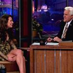 Lea Michele appears on The Tonight Show With Jay Leno 100294