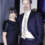 Lea Michele at the Tony Award nominations with Jeff Daniels 60490