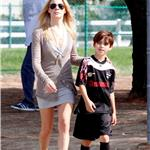 Leann Rimes with Eddie Cibrian and his sons, looking healthier in October 2010 82813