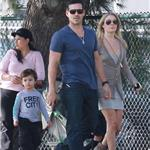 Leann Rimes with Eddie Cibrian and his sons, looking healthier in October 2010 82816